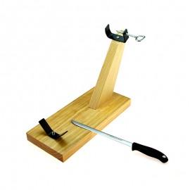 Support à Jambon en bois et son Couteau