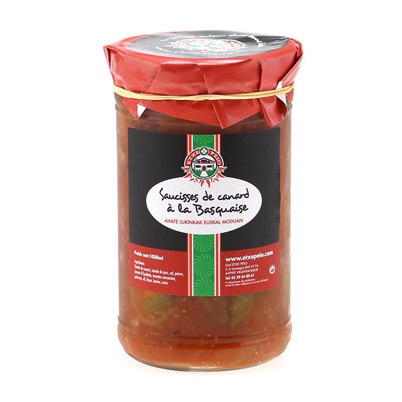 Saucisses de Canard à la Basquaises 1kg