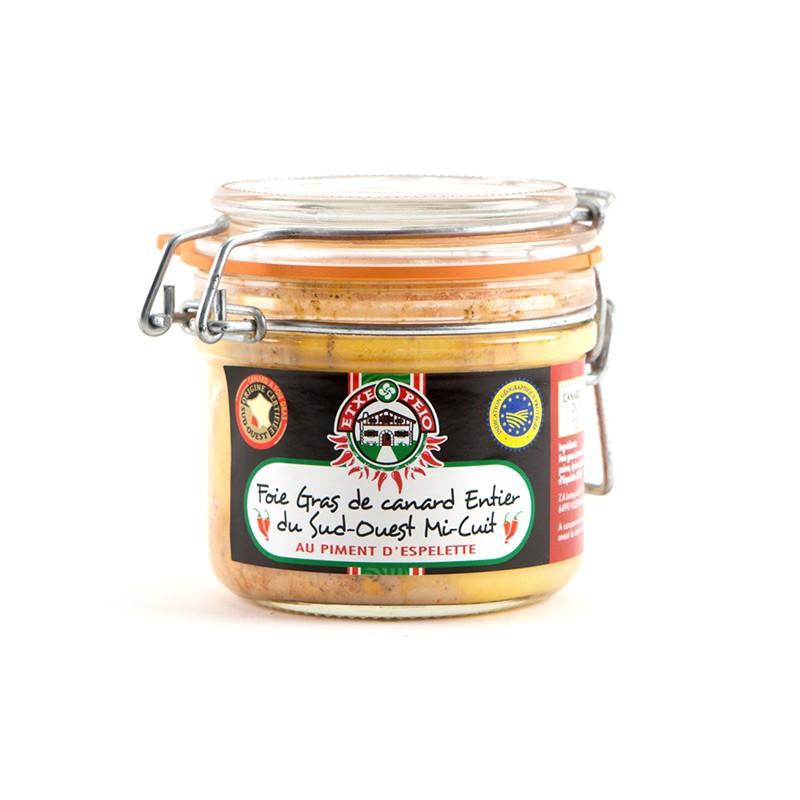 Foie Gras de Canard Mi-Cuit Piment d'Espelette 180g IGP Sud-Ouest