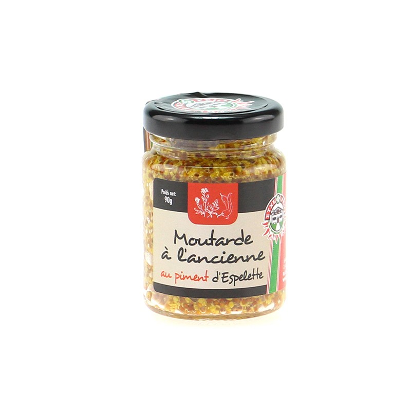 Moutarde à l'Ancienne au Piment d'Espelette 90g