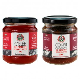 Lot de 2 condiments de fabrication Basque