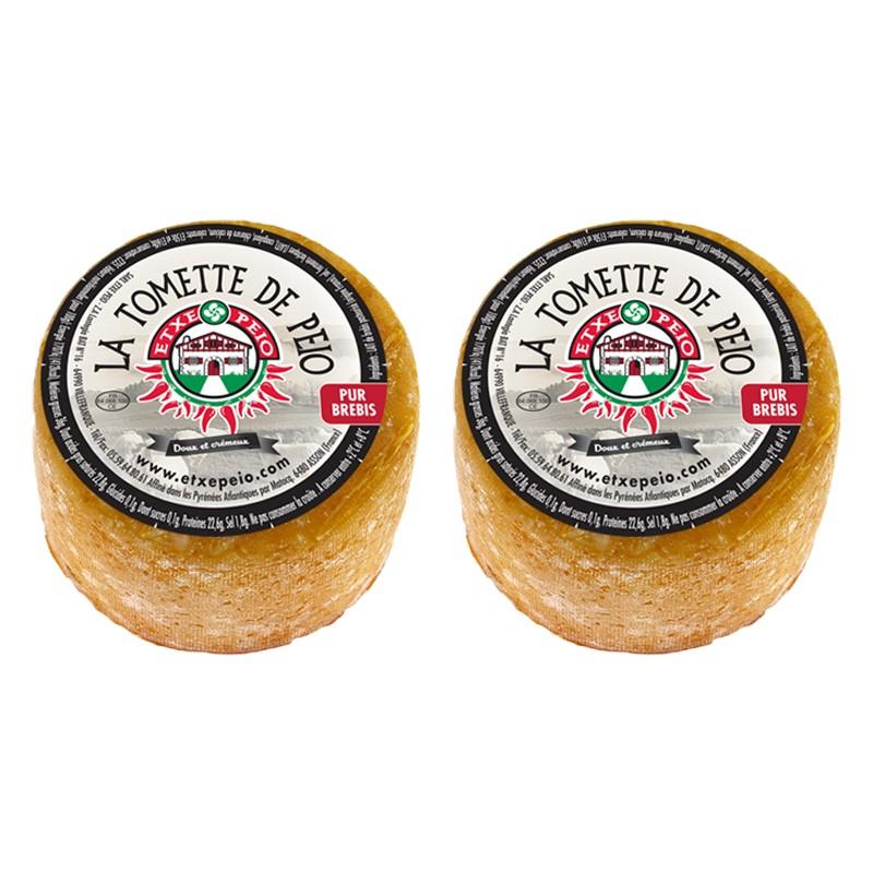 Lot de deux fromages de brebis, deux petites tomettes